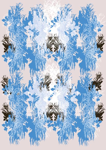 pink and blue pattern flower