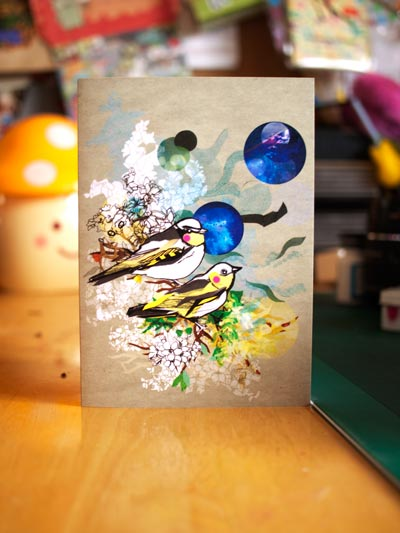 Yellow Bird card