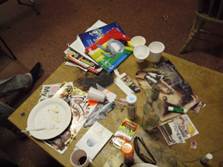 Messy table
