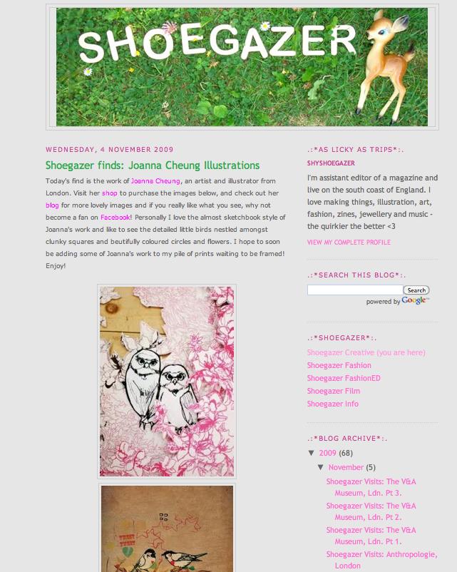 Shoe Gazer Blog