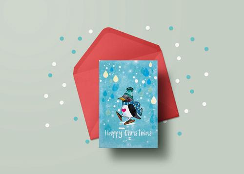 penguin-card