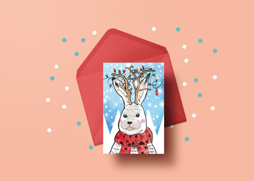 rabbit-christmas-card