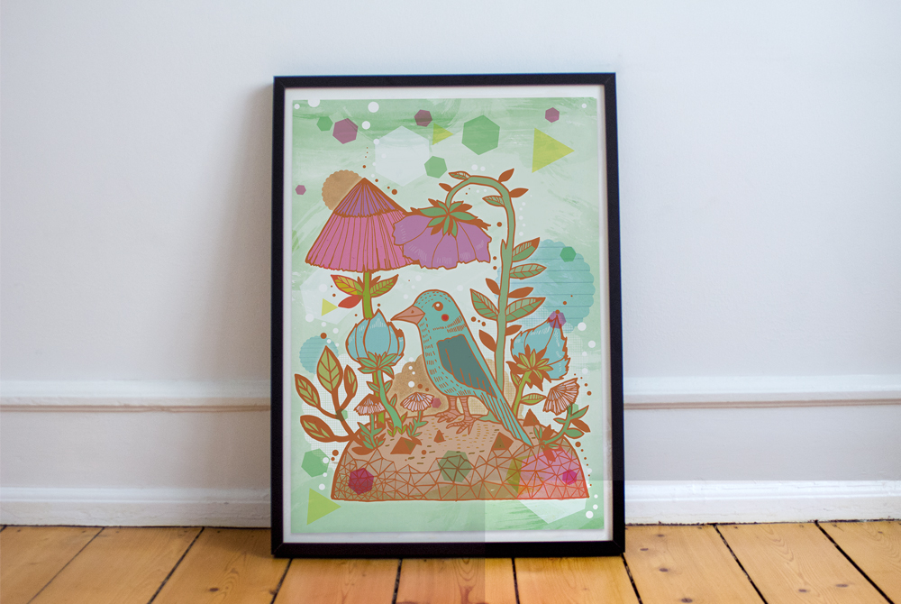 Blue-Bird-Print
